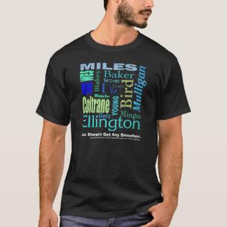 T-shirt Le jazz n'obtient aucune pièce en t noire plus