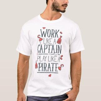 T-shirt Le jeu aiment un pirate
