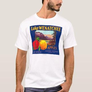 T-shirt Le lac Wenatchee Apple marquent (bleu) - le
