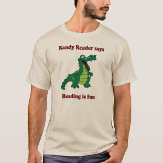 T-shirt Le lecteur excité dit… La lecture est amusement