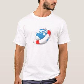 T-shirt Le logo d'épargnant du monde vous laisse faire une