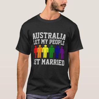 T-shirt Le mariage homosexuel de l'Australie a laissé mes