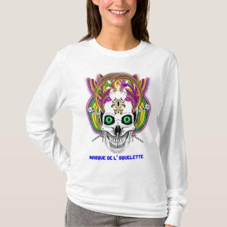 T-shirt Le masque de l'Squelett de mardi gras regardent