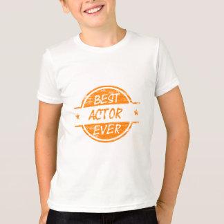 T-shirt Le meilleur acteur jamais Orange.png