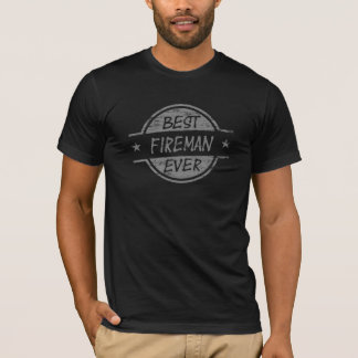 T-shirt Le meilleur pompier toujours gris