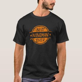 T-shirt Le meilleur Wingman toujours orange