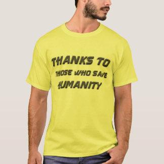 """T-shirt Le """"Merci"""" sauve l'humanité"""
