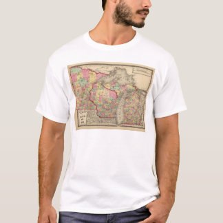 T-shirt Le Michigan, le Minnesota, et le Wisconsin 2