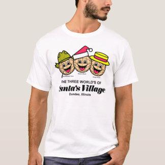 T-shirt Le monde trois du village de Père Noël, Dundee, IL