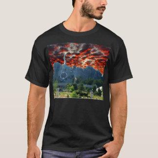 T-shirt Le mont Rushmore obtient une restauration