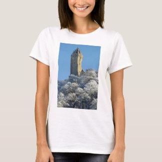 T-shirt Le monument de Wallace Stirling Ecosse en hiver