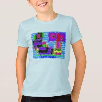 T-shirt Le mur,    ASPIE À L'INTÉRIEUR