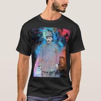 T-shirt Le noir de la cannette de fil W/Background- de