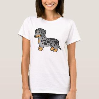 T-shirt Le noir et le Tan tachettent le chien lisse de