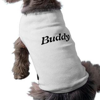 T-shirt Le nom T du chien d'ami+chemise