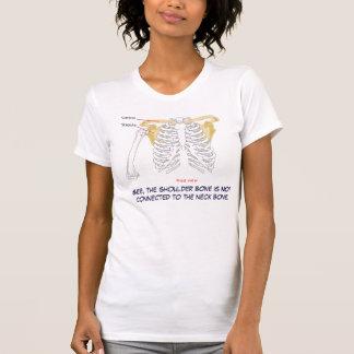 """T-shirt Le """"os d'épaule n'est pas relié au cou… """""""