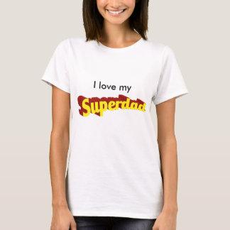 T-shirt Le papa superbe de papa est mon texte comique de
