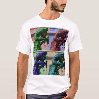 T-shirt Le penseur (blanc)