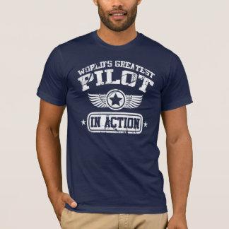 T-shirt Le plus grand pilote du monde dans l'action