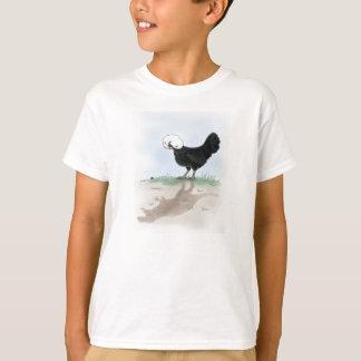T-shirt Le poulet polonais mignon chassant un petit