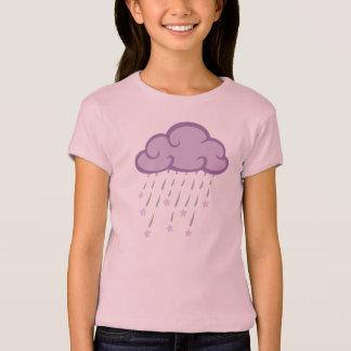 T-shirt Le pourpre courbe le nuage de pluie avec des