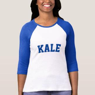 T-shirt Le raglan bleu de lettre d'université de CHOU