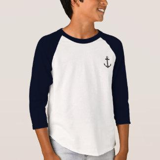 T-shirt Le raglan unisexe de l'enfant d'ancre