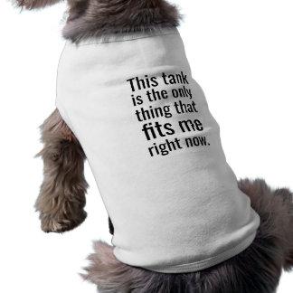 """T-shirt """"Le réservoir adapte"""" le débardeur de chien"""