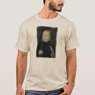 T-shirt Le Roi James VI avec le faucon de moineau - 1574