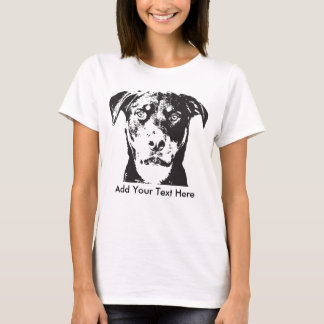 T-shirt Le rottweiler ajoutent votre texte