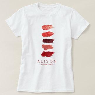 T-shirt Le rouge à lèvres nommé de maquilleur colore des