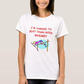 T-shirt le saut à la perche des femmes