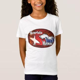T-Shirt Le surfer de Honolulu Hawaï ondule la pièce en t