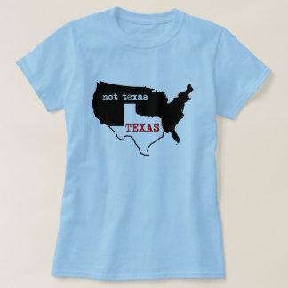 T-shirt Le Texas/pas chemise de dames du Texas