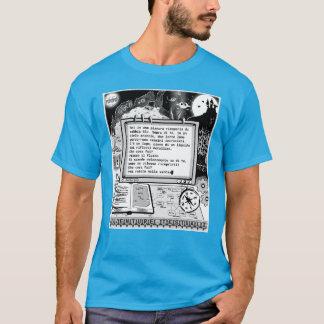 """T-shirt Le texte risque (a) """"Lago Alieno di Metallo """""""