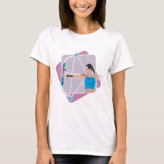 T-shirt Le tir à l'arc des femmes