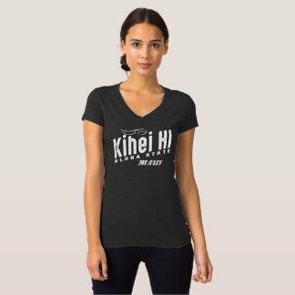 T-shirt Le V-Cou des femmes de Kihei HI