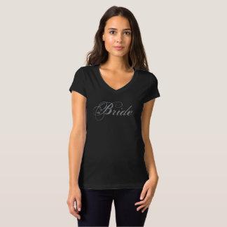 T-shirt Le V-Cou des femmes de vitesse de partie de