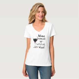 T-shirt Le vin s'améliore avec l'âge que je m'améliore