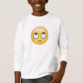 T-shirt Le visage avec le roulement observe Emoji