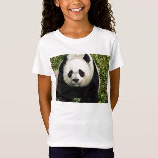 T-Shirt Le visage de panda géant tout droit badine la