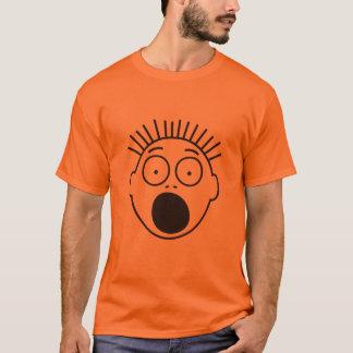 T-shirt Le visage des chiffres effrayés superbes de bâton