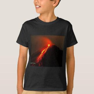 T-shirt Le volcan aiment l'AMOUR à mon coeur