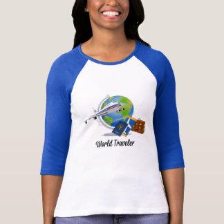 T-shirt Le voyageur du monde, emballé et préparent pour