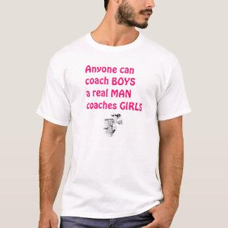 T-shirt Le vrai Fille-Football d'entraîneur d'hommes