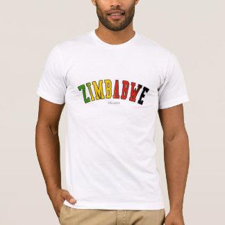 T-shirt Le Zimbabwe dans des couleurs de drapeau national