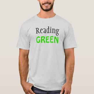 T-shirt Lecture de la pièce en t unisexe VERTE