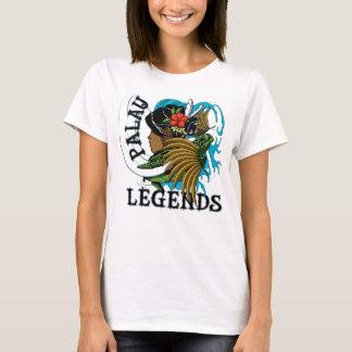 T-shirt Légende de jupe de tortue et d'herbe des Palaos