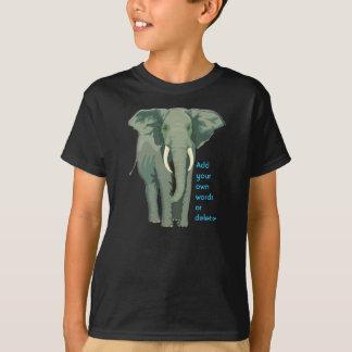 T-shirt L'éléphant africain badine Hanes Tagless