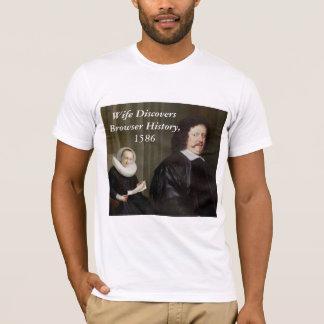 T-shirt L'épouse découvre l'histoire de navigateur
